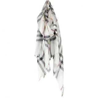 Burberry House Check silk and wool-blend scarf