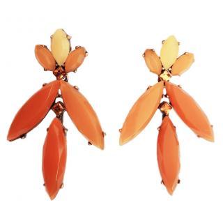 Oscar de la Renta resin drop earrings