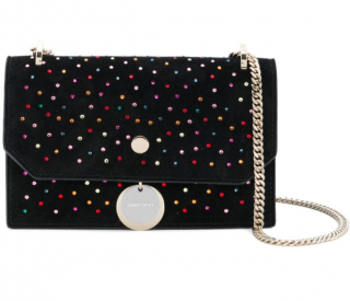 Jimmy Choo Finley Small Embellished Shoulder Bag