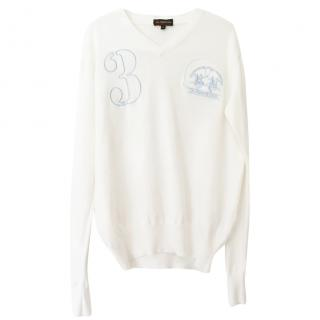 La Martina logo-embroidered cotton sweater