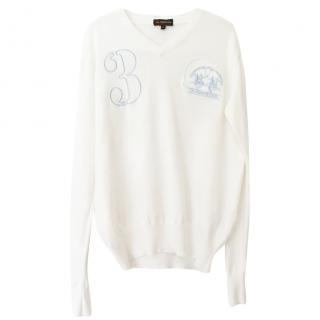 La Martina logo-embroidered cotton sweater