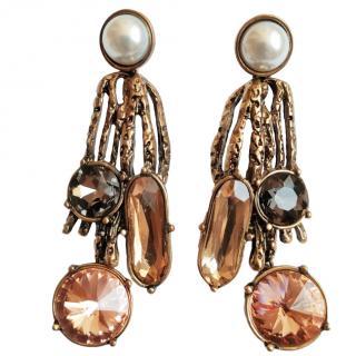 Oscar de la Renta crystal-drop earrings