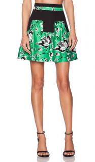 Diane Von Furstenberg green garden skirt