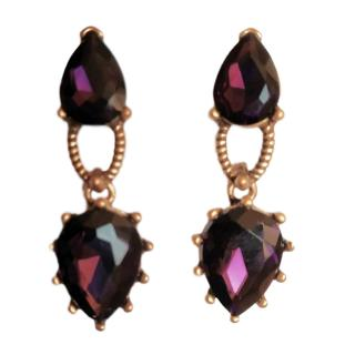 Oscar de la Renta crystal pear-drop earrings