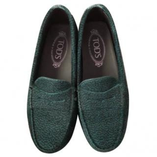 Tod's calf hair loafers
