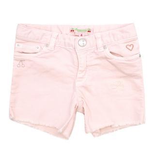 Bonpoint Girls 4Y Pink Denim Shorts