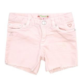 Bonpoint Girls 4Y Pink Denim Shorts