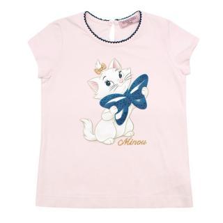 MonnaLisa Bebe 3Y Pink Aristocats Print Top