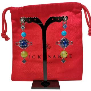 Vicki Sarge multi-bead drop earrings