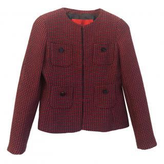 Carolina Herrera collarless tweed jacket