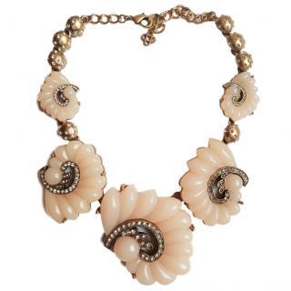 Oscar de la Renta resin and crystal-embellished necklace