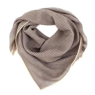 Anderson & Sheppard Wool and Silk Blend Houndstooth Neckerchief