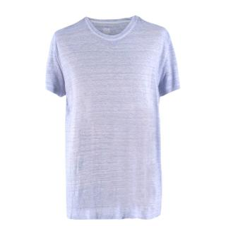 95050b7b 120% LINO Light Blue Linen T-shirt