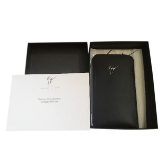 Giuseppe Zanotti Black Leather Phone Case