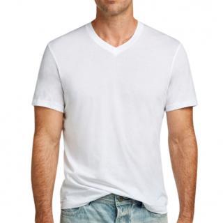 James Perse Standard White V-neck T-shirt