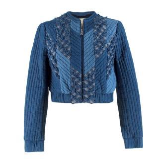 Rebecca Taylor Blue Denim Paneled Jacket