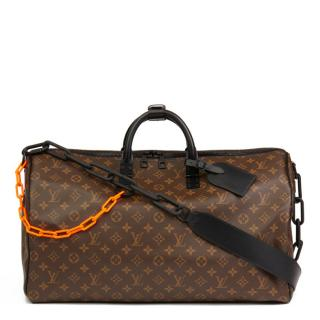 Louis Vuitton Virgil Abloh Keepall Bandouliere 50 Bag