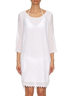Velvet by Graham & Spencer White Cover-Up Dress
