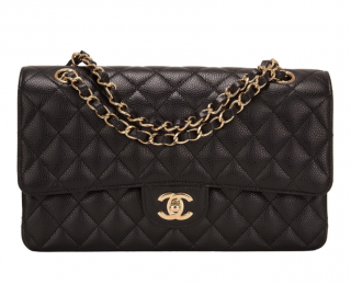 Chanel Black Jumbo Caviar Leather Flap Bag