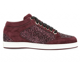 Jimmy Choo Miami Galaxy suede and glitter sneakers