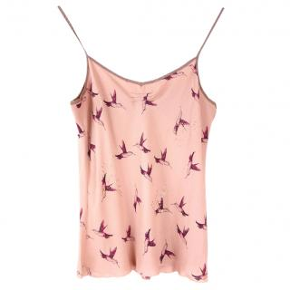 Temperley Pink Hummingbird Silk Top
