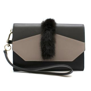 Oh! By Kopenhagen Fur Leather Flap Wallet