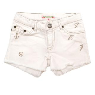 Bonpoint Girls 4Y White Denim Shorts