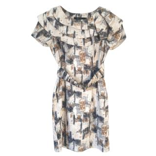 BCBG Max Azria abstract square-print dress