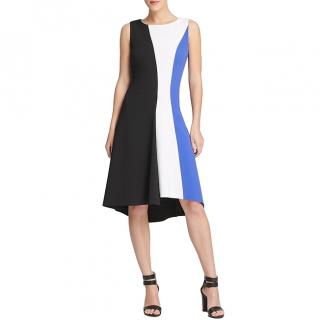 Donna Karan colour-block A-line dress