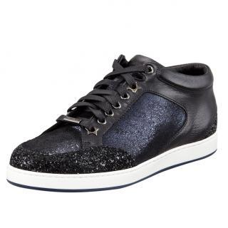 Jimmy Choo Miami glitter-panel shoes