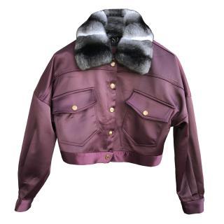 f3a57af2 FurbySD fur-collar bomber jacket. Never Worn Item