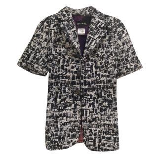 Chanel short-sleeved tweed jacket
