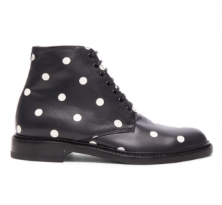 Saint Laurent Polka Dot Leather Lolita Boots