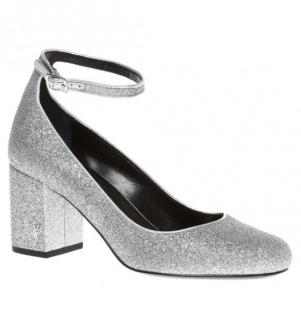 Saint Laurent Metallic 'Babies' Mary Jane Pumps