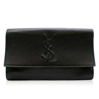 Saint Laurent Belle De Jour Black Leather Clutch Bag