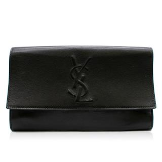 Saint Laurent Belle De Jour Black Leather Clutch Bag
