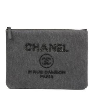 Chanel Denim Embellished Deauville O'Case