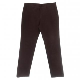 Zegna Men's Burgundy Chinos
