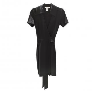 Diane Von Furstenberg Black Classic Wrap Dress