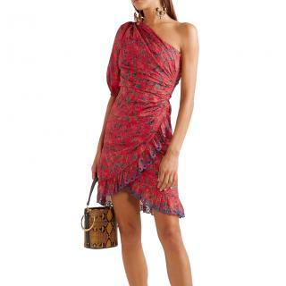 Isabel Marant Etoile Esther one-shoulder floral-print dress