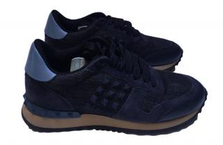 Valentino Denim Rock Runner Sneakers