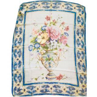 Dolce & Gabbana Sicily Maiolica floral vase-print silk scarf