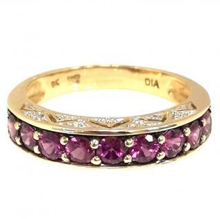 Bespoke Pink Garnet & Diamond Ring