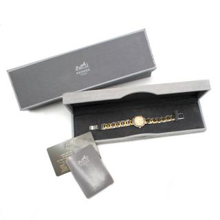 Hermes Gold Plated Vintage Clipper Watch