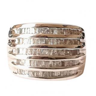 Bespoke baguette set diamond ring