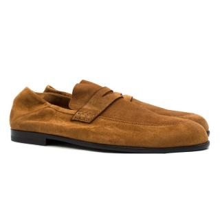 Harrys Of London Edward Tan Collapsible Heel Suede Loafers