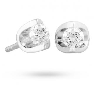 Goldsmiths 18ct Gold 0.30ct Tension Set Diamond Earrings