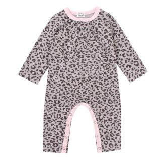 Splendid Girls 12-18M Pink Leopard Print Baby Grow