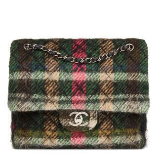 Chanel Quilted Mohair Tartan Flap Bag