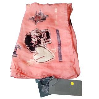 Alexander McQueen Pink Dream Shell Scarf